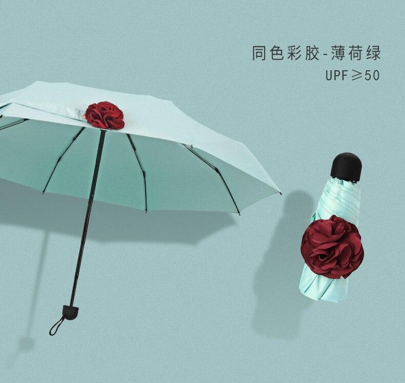 Luz de viagem guarda-chuva portátil automático mini