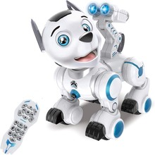 Remote Control Robotic Dog Pets ligent Walking Dancing Robot Puppy Toys Electronic Animal Pets with Light and Sound(China)
