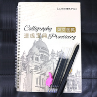 Cursive Writing English lettering Calligraphy Copybook For Adult Children Exercise Groove Practice Word Books Drawing Toys