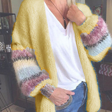 Sweaters Women's Coats Spring Loose Warm Comfortable Soft Female Solid-Color Plus-Size