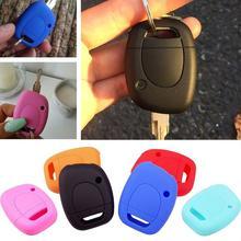 1 Кнопка Силиконовый Автомобильный Брелок-чехол для дистанционного ключа чехол для Renault Twingo Clio