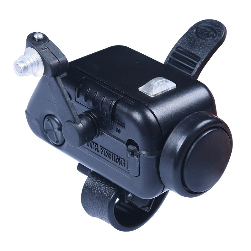 USA High Sensitive Fish Bite Alarm Black Adjustable Volume Fishing Rod Signal Device Bait Alertor ABS Plastic Fish Alarm Hs