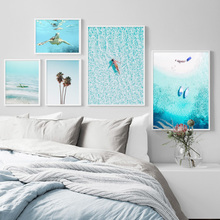 Turtle Starfish Coconut Tree Bikini Wall Art Canvas Painting  Nordic Posters And Prints Pictures For Living Room