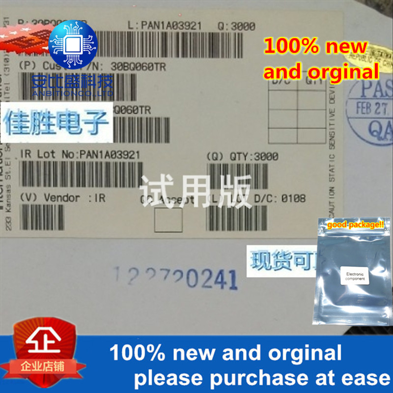 25-50pcs 100% New And Orginal 30BQ060 3A60V DO214AB Silk-screen LR3H In Stock