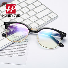 Half Metal Computer Gaming Glasses Spectacle Optical Glass Frame for Men Women Anti Blu-Ray Eyeglasses Blue Light Blocking UV400(China)
