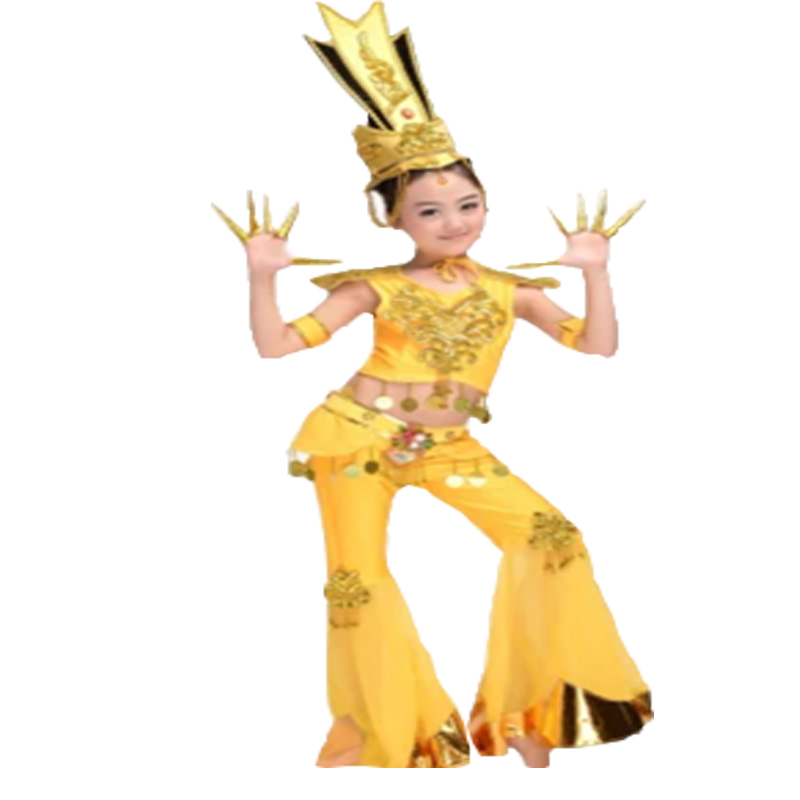 girls chinese folk dance chinese dance costumes stage dance wear Dunhuang Flying Dance clothing Thailand Dance Costume