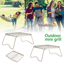 цена на Mini Family Party Barbecue Grill Outdoor Stainless Steel Portable Folding Barbecue Grill Garden Rack Lightweight Kitchen Tools