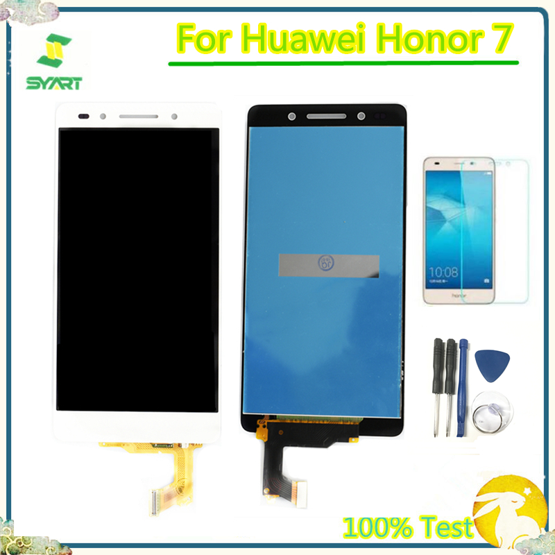 5.2'' 100% Tested LCD <font><b>Display</b></font> For Honor7 LCD Touch Screen Digitizer Assembly <font><b>Frame</b></font> For <font><b>Huawei</b></font> <font><b>Honor</b></font> <font><b>7</b></font> PLK-TL01H PLK-L01 PLK-UL00 image