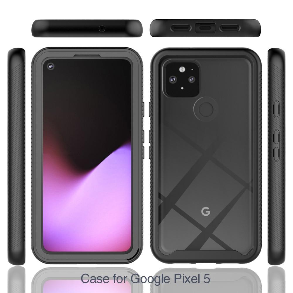 For Google Pixel 4A 5G Case Soft Bumper + Transparent Hard Back Panel 360 Protect Shockproof Cover Shell For Pixel 4A 4G Pixel 5