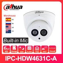 Dahua 6MP HD caméra IP IPC-HDW4631C-A WebCam Surveillance Vision nocturne IR 30M H.265 PoE intégré micro remplacer le IPC-HDW4433C-A