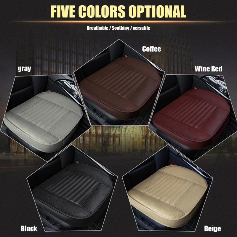 Black+Red PU Leather Full Set Car Seat Covers Protector Cushions Breathable US