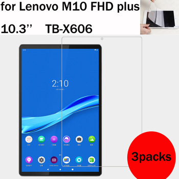 3 Packs soft screen protector for Lenovo tab M10 FHD plus TB-X606 10.3'' M7 M8 HD Gen 2 TB-X306 TB-7305 TB-8305 TB-8505 1