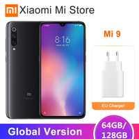 "Version mondiale Xiao mi mi 9 mi 9 Smartphone 6GB 64GB Snapdragon 855 Octa Core 6.39 ""48MP Triple caméra NFC QC 4.0"
