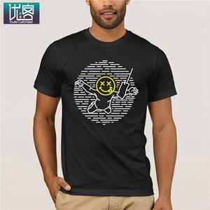 Nirvana Nevermind вдохновленная взрослой одежда, популярная футболка с круглым вырезом, 100% хлопок, винтажные футболки с круглым вырезом, хлопковая ...