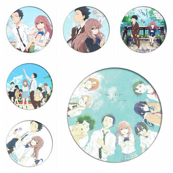 Koe No Katachi Backpack Badges ishida shouya Brooch Shouko Nishimiya A Silent Voice Collection Toys Cartoon Cosplay Pins image