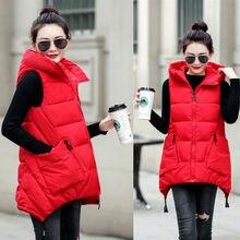 Brieuces 2019 autumn and winter new student cotton vest women's vest coats plus size 3XL women clothing women vests coats