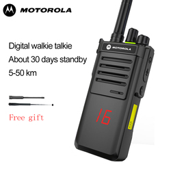 Motorola Walkie Talkie xirp8668 Incontrato 20 Kanalen 6Km Afstand Outdoor Walkie Talkie Ondersteuning Ni-Mh Batterij & Aaa Batterij