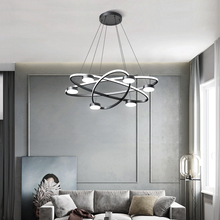 Fashion Minimalist Chandelier Atmosphere Creative Personality Living Room Dining Room Nordic art Restaurant Chandelier staircase long chandelier modern minimalist solid wood villa entrance atmosphere nordic living room creative bar duplex building