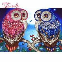 Couple hibou – peinture diamant spécial 5D, Kit de bricolage, broderie, couture, strass, cristal, point de croix, artisanat