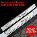 Высококачественная пластина из нержавеющей стали  дверной порог  педали  Стайлинг автомобиля  аксессуары для Hyundai Tucson 2015 2016 2017 2018