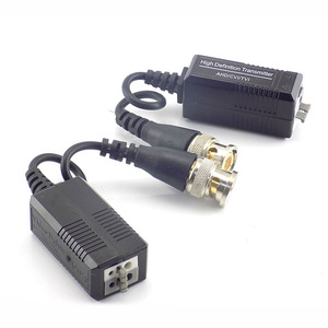 Image 2 - 10pair UTP Video Balun Twisted CCTV Balun Passive Transceivers for HD CVI/TVI/AHD Camera Male BNC to UTP camera Accessories G16