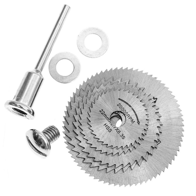 6 Pcs 22-44mm HSS Circular Saw Blade Cutting Discs Set With 2 Gaskets For Drill