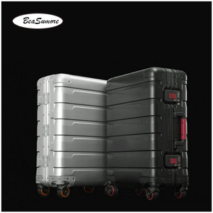 Image 4 - BeaSumore roue valise pour hommes, 100%, style rétro en alliage daluminium, chariot à grande capacité 20/24 pouces
