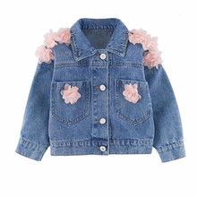 Denim Girls Jacket for Baby Kids Outwear Coat Unicorn Children Clothes Embroidered Flowers Girl Autumn Tops Jackets Coats(China)