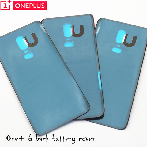 For Oneplus 6 Glass Battery cover Door Smart Phone Back Cover Replacement Repair Part for one plus 6 1+6 6.28 inch Lahore