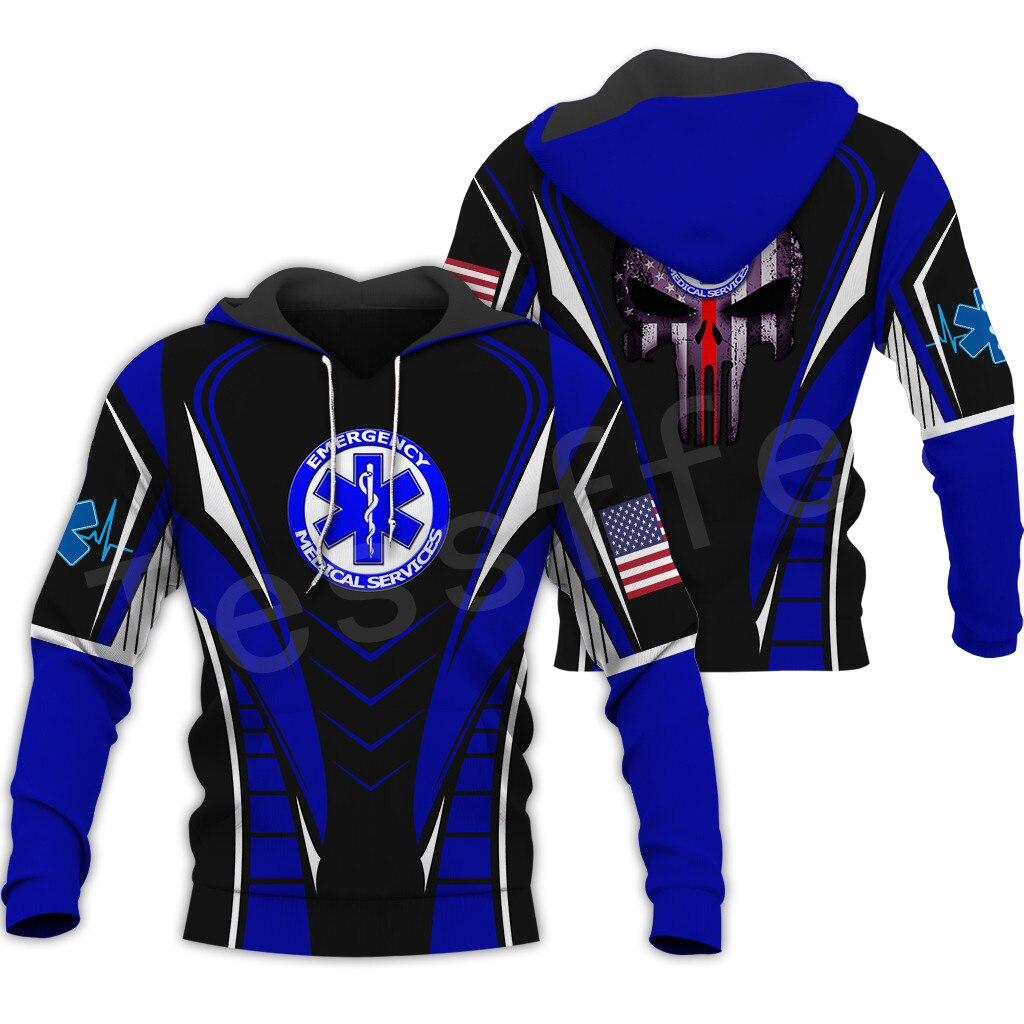 Tessffel Emergency Medical Technician EMT EMS Paramedic NewFashion Unisex Pullover 3DPrint Sweatshirt/Hoodies/zipper/Jacket S-6