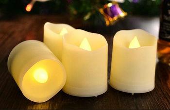 Velas de borde ondulado sin llama, recargables por USB, 6 uds. Con control remoto, temporizador, velas LED candelita votiva, decoración para Barra de casa, blanco cálido
