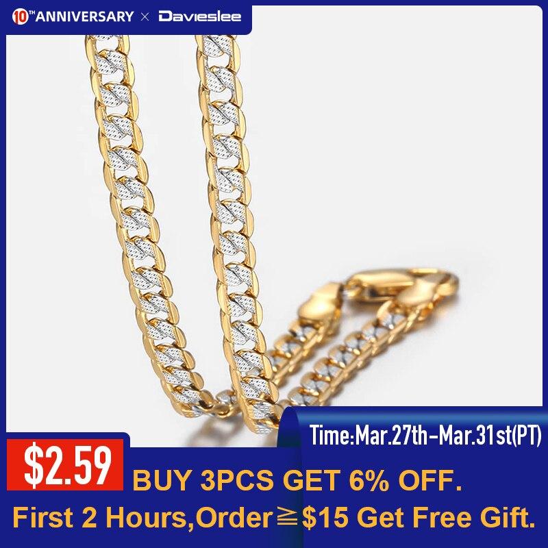 Gold Chain Necklace for Men Women Cuban Link Chains Mens Womens Necklaces Wholesale 2019 Fashion Men's Woman Jewelry LGN64