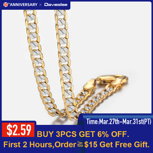 Gold Chain Necklace for Men Wo