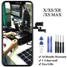 Dla iPhone X LCD XS nie martwy piksel ekranu dotykowego OLED OEM montaż panelu sterowania dla iPhone XS Max XR wyświetlacz LCD wymiana części zamiennych