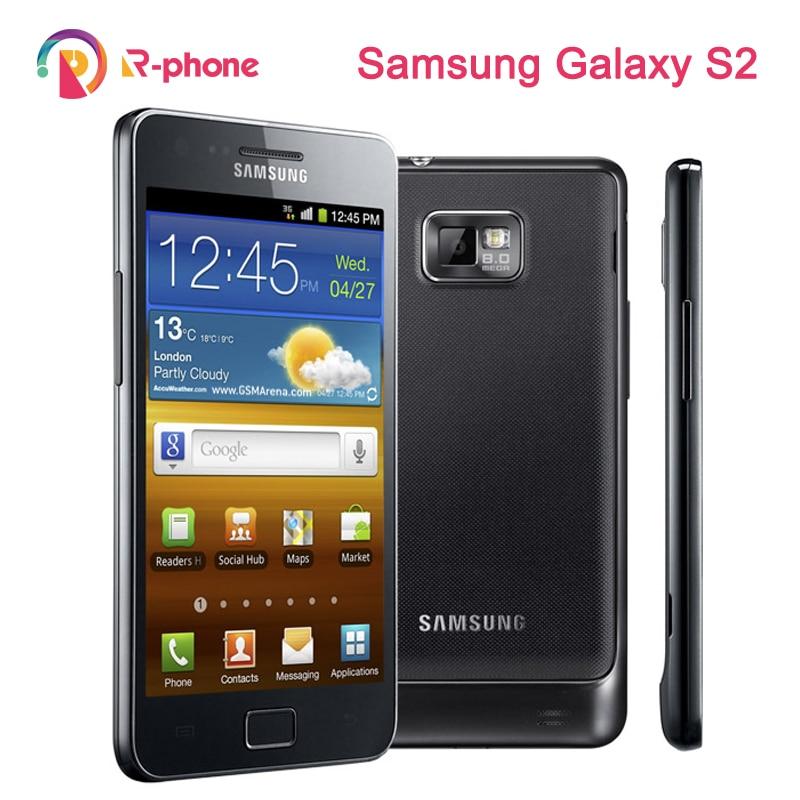 Samsung Galaxy S2 i9100 Восстановленный мобильный телефон 3G Wifi 8MP разблокированный Android телефон оригинал