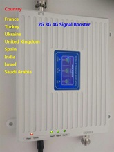 ZQTMAX 2G 3G 4G Tri Band Mobile Signal Booster gsm dcs Repeater 900 1800 2100 UMTS LTE Cellular Signal Amplifier