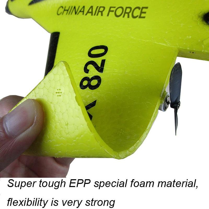 RC avions télécommandés avions volant modèle mousse planeur EPP jouet bulle résistant aux chutes artisanat extérieur RTF queue poussoir Flyer 5