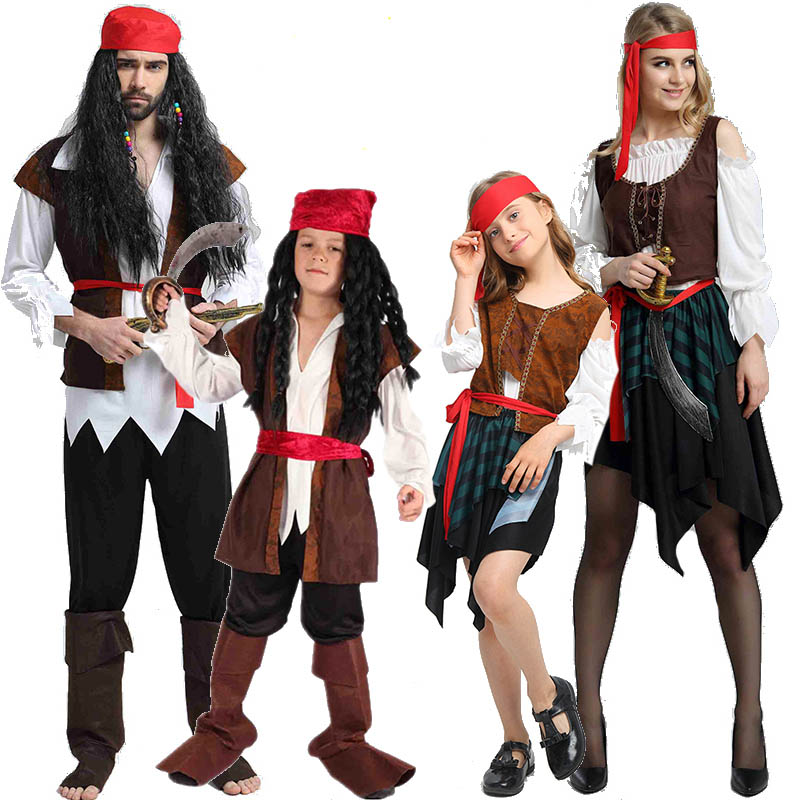 2019 Christmas Theme Birthday Costumes Kids Boys Pirate Costume Cosplay Set For Children Halloween Christmas For Kids Children