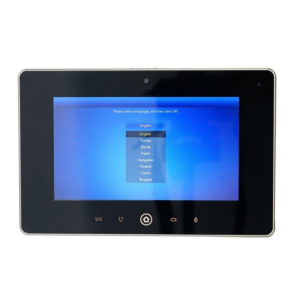 Dh logotipo multi idioma vth5221d monitor interno de 7 polegadas, build in câmera, sip firmware, campainha ip, vídeo porteiro, campainha com fio - 5