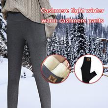2021 legginsy damskie Winter Warm Plus Size legginsy aksamitne w jednolitym kolorze legginsy damskie legginsy z wysokim stanem rozciągliwe czarne legginsy tanie tanio JAYCOSIN CN (pochodzenie) REGULAR Bez szwu Spandex(10 -20 ) Kostek Grube Sztruks Leggings Wysokiej Na co dzień Poliester