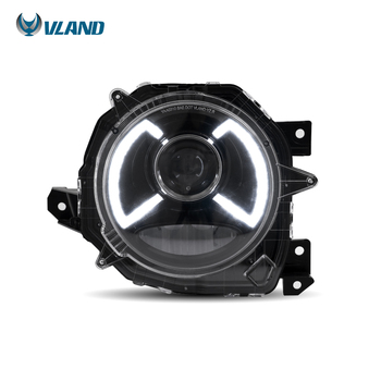 VLAND factory for car Headlight For JIMNY 2018 2019 LED Head Lamp and DRL with welcome light with blue+Play and Plug
