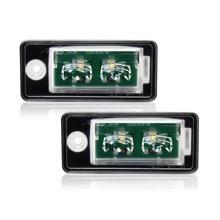 Luz de LED para placa de matrícula para Audi A4, S4, A3, S3, A6, Q7, S6, con Chip Osram, cancelación de advertencia interna, Canbus, sin errores, 2 uds.
