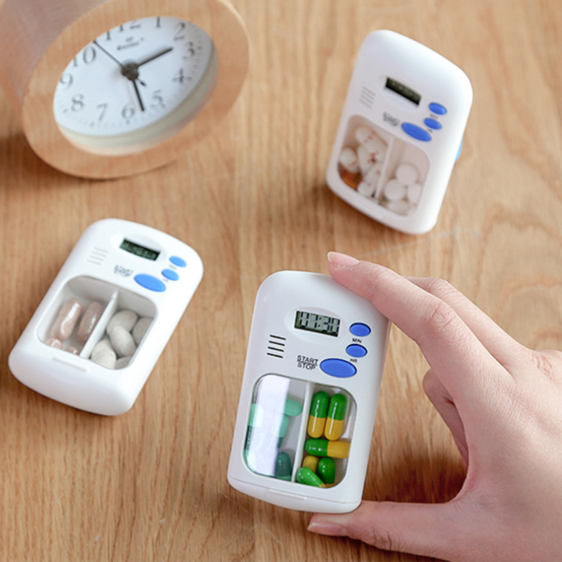 LED Display Alarm Clock Remind Small First Aid Kit Mini Portable Pill Reminder Drug Alarm Timer Electronic Box Organizer