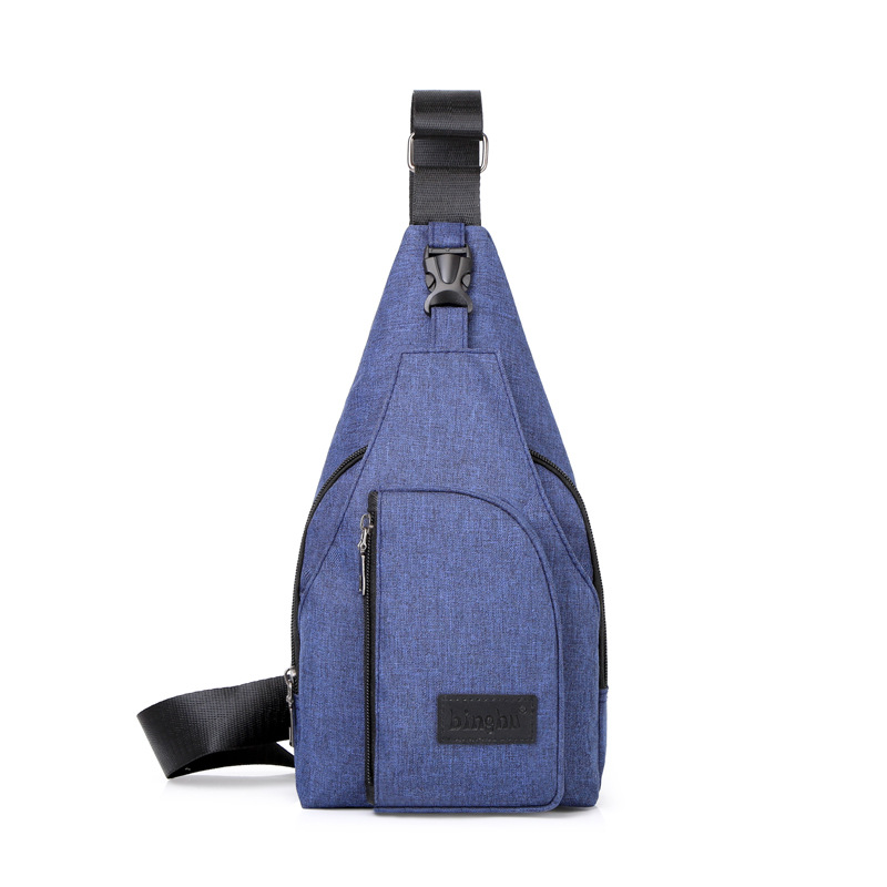 Shoulder Bag Nylon Men Casual Shoulder Bag Chest Pack Korean-style Backpack Fashion Sports Chest Bag