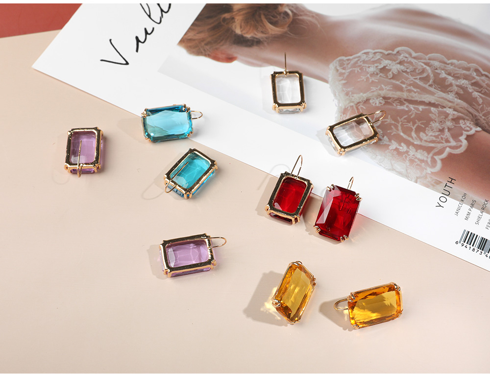 Ha4054f7a426549ef9af0f1d911b65513r - Transparent Resin Pendant Hanging Earring For Women Bohemia Trendy Geometric Square Acrylic Drop Dangle Earrings Wedding Jewelry