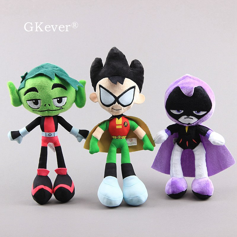 24-30 Cm Anime Teen Beast Boy Plush Toys Doll Peluche New Arrivals Bat Man Stuffed Animals Toys Baby Kids Birthday Gift