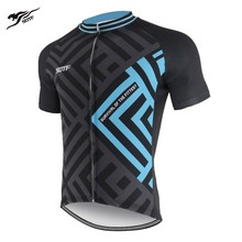 SOTF Blue Labyrinth Graphic Unisex road bike jersey long sleeve cycling men retro motocross void