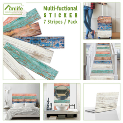Funlife® 21x100cmx7pcs American Retro Old Wooden Self adhesive Kitchen Bathroom Tile Sticker Stair Waterproof DIY Wall Sticker