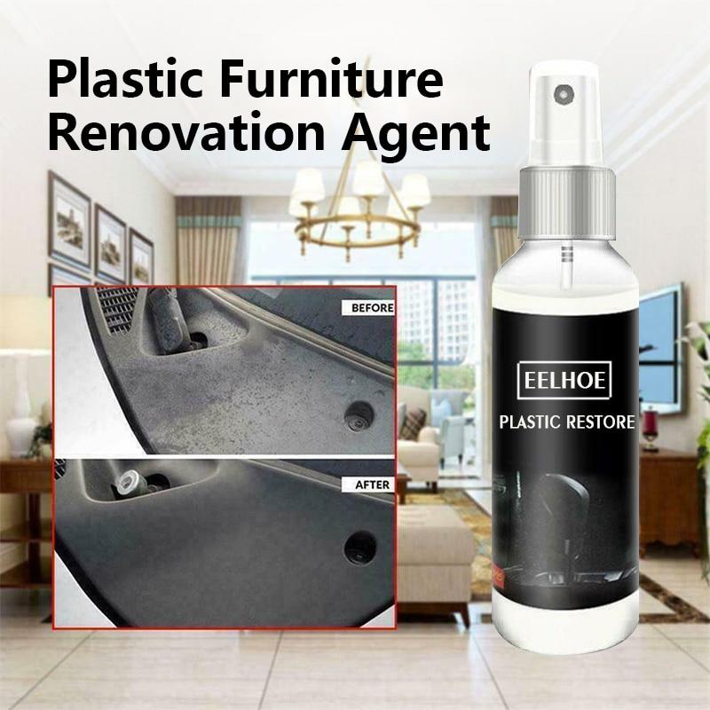 2PCS  30ML Plastic Parts Retreading Wax Instrument Panel Agent Automotive Interior Plastic Part Retreading Coating Cleaner TSLM1