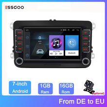 Essgoo 7'' Autoradio 2 din Android Auto Stereo Video MP5 Radio Touch Screen GPS Navigation Multimedia Player Für Volkswagen/VW